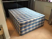 Quality Edge Sprung Double Bed With Mattress Delivery Possible