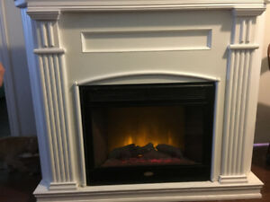 Electric fireplace mantel. Beautiful show peice
