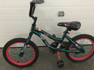 "Like new monster high bike 16"" wheels Prince George British Columbia image 1"