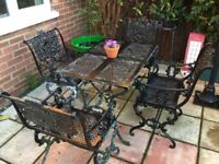 garden table and chairs need a paint