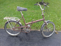 Vintage folding bicycles