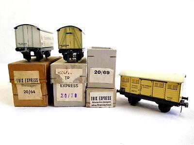 Original und alt 3 Trix Express Kühlwagen & Bierwagen 1Leerkarton Spur H0 /385