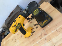 Dewalt 14V Cordless Drill Charger and Two Batteries