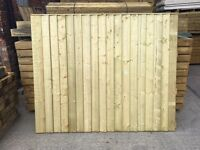 🛠Heavy Duty Flat Top Wooden Feather Edge Fence Panels * High Quality