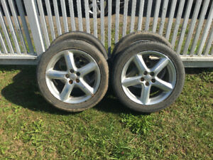 "4x 17"" Alloy Wheels - c/w Bridgestone m/s Tires"
