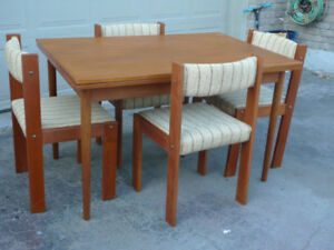 Teak Mid Century  Chairs and table