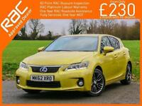 2012 Lexus CT CT200h Hybrid SE-L Auto Demo Plus 1 Private Owner Only 40,000 Mile