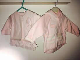 2 Baby Jackets 0-3m