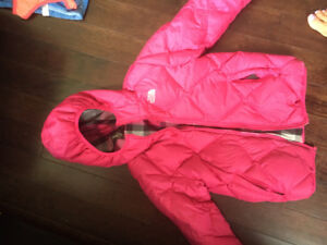 The north face girls reversible coat size 10