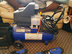 8 gal compressor with nail guns