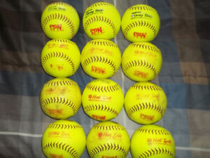 Used hot dot softballs