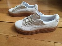 Creepers Puma Rihanna White Oat Sole Trainers Girls Female Women Shoes Footwear