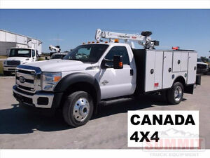 New Ford F550 4x4 with Summit Service Body