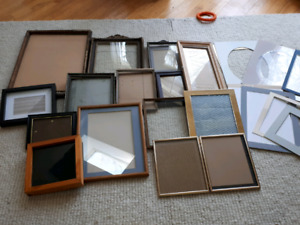 Lot of 14 Frames - Various sizes and some matting included