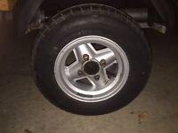 """Mini 10"""" revolution trailer wheels"""