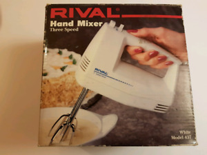 Rival 3-speed hand mixer