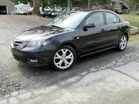 MAZDA3 GT 2008 - 5 SPEED - SUNROOF - BLACK - CERTIFIED