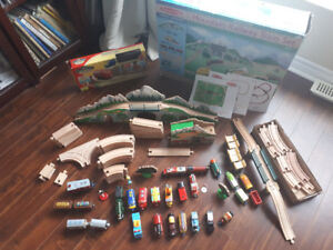 Melissa and Doug Wooden Mountain Railway Train Set $200 obo