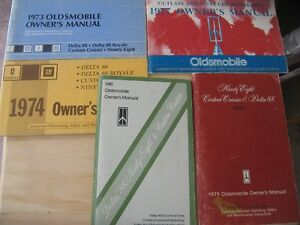 Old Oldsmobile Owners Manuals