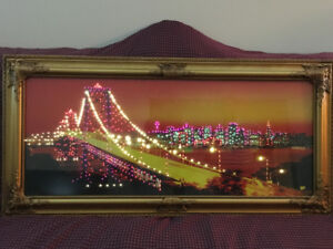 Framed picture of the Los Angeles Bridge