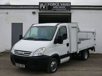 IVECO DAILY 35C12 FLAT-BED DROPSIDE PLANT PICKUP TAIL LIFT WORK DELIVERY VAN