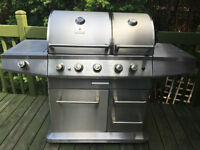 Barbecue bouble PC Stainless/Inox avec broche et rotisserie BBQ