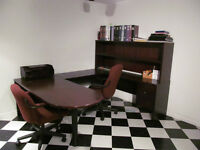 Large U Shaped Desk w Hutch  and 2 drawers, Office or Craft Use