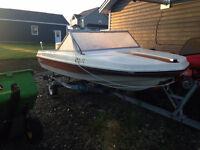 Searay15 Ft Fiberglass boat, 60HP Johnson and Karavan Trailer