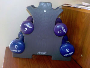 MOVING SALE-Dumbbell Weight Set & Stand-Smoke/Pet Free