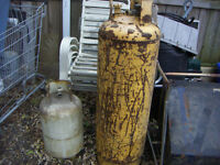 Propane TANKS, 4 ft and 2 ft, Both expired, pair for $35.00
