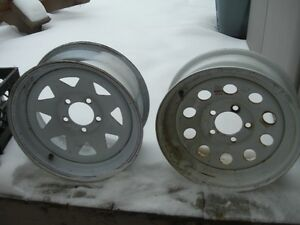 TWO 15 INCH TRAILER  RIMS