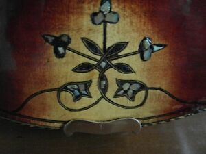 Violin with mother of pearl inlay