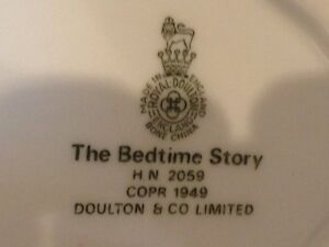 "Royal Doulton Figurine ""Bedtime Story"" HN 2059 London Ontario image 6"