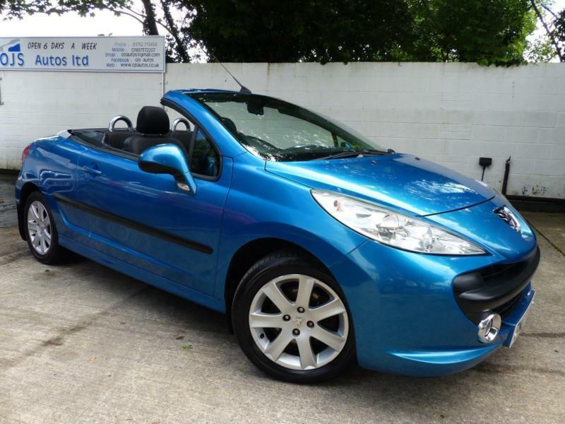 peugeot 2007 207 cc 1 6 16v 120 coupe sport petrol manual convertible in blue in plymouth. Black Bedroom Furniture Sets. Home Design Ideas