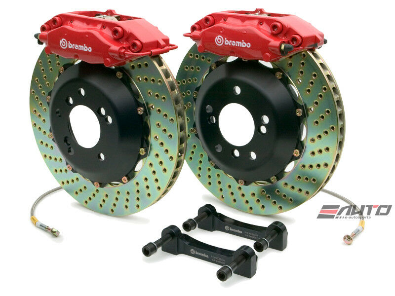 Brembo Rear Gt Big Brake Bbk 4piston Red 328x28 Drill Disc Bmw E36 M3 95-99