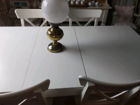 IKEA Cream Off White Extra Large Kitchen Extendable Dining Table