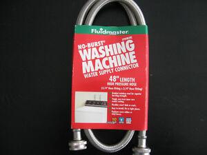 HOSES - WASHING MACHINE POLY/STAINLESS STEEL 4 ' & DISHWASHER 5'