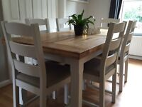 Solid oak table and 6 chairs DELIVERY AVAILABLE
