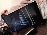 """Bush 42"""" LED TV Has Cracked Screen Spares or Repairs Can Deliver"""
