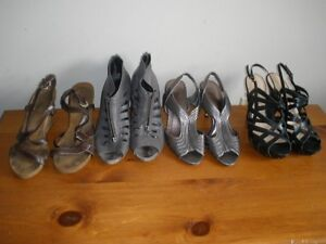 4 pair of ladies shoes