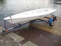 Laser Sailboat, with trailer, for sale