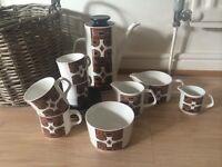 Retro Vintage J&G Meakin studio pottery 'MAORI' tea/ coffee set