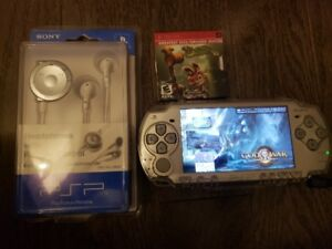 Sony PSP (2001) Slim Modded with case, games and new headphones