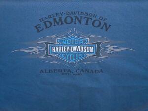 VINTAGE HARLEY DAVIDSON EDMONTON ALBERTA T-SHIRT EST.1980