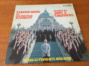 2 disques 33 tour,1 de Fernand Gignac et 1 de René Simard