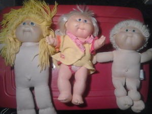 3 Cabbage Patch Dolls ( one is 1978 vintage )