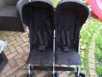 Kiddicare double twin stroller buggy pushchair Pram