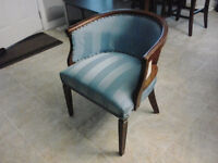 antique chair reupholstered