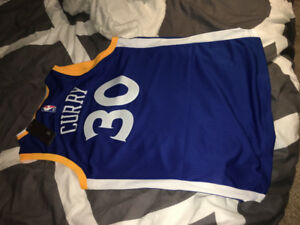 Steph Curry blue Golden State jersey