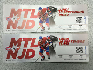 Billlets Canadiens de Montreal vs New Jersey SECOND ROW CHEAP